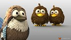 Bird cartoon character