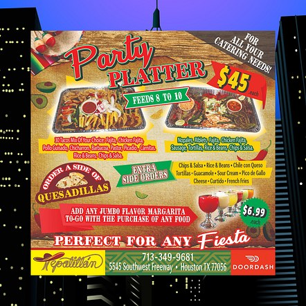Mexican Restaurant Party Platter Promotion Poster