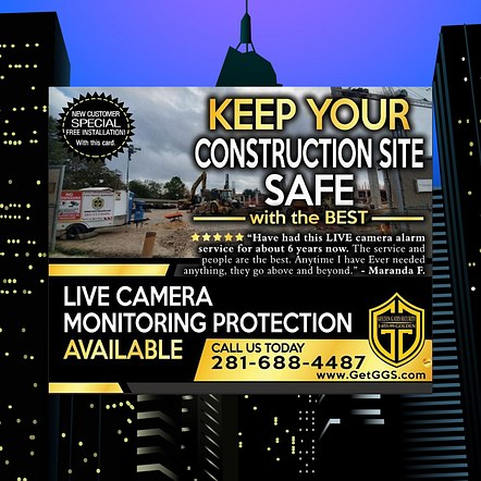 Security System Company Promotional Poster