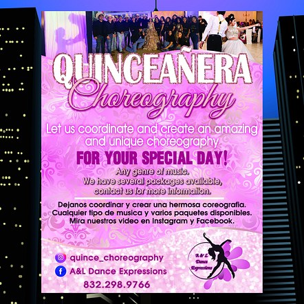 Choreography Dance Lessons Publicity Poster