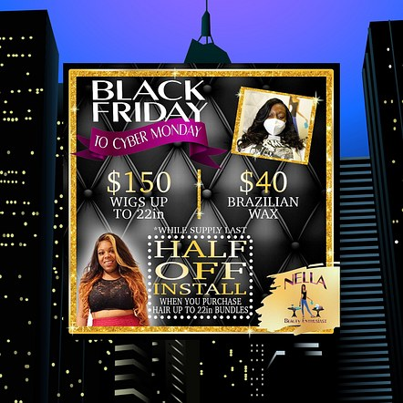 Beauty Salon Sale Digital Flyer Design