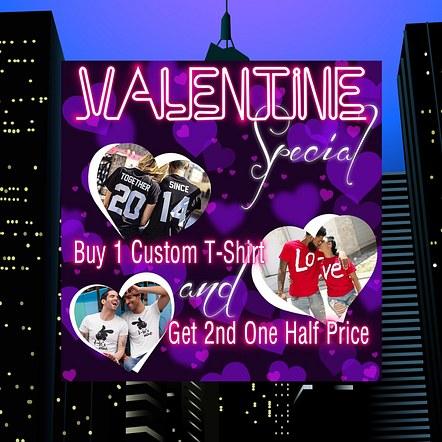 Print Shop, Graphics & Design Valentine Promotion Digital Flyer Design