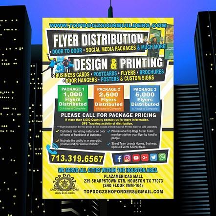 Print Shop, Graphics & Design Promotion Flyer Design