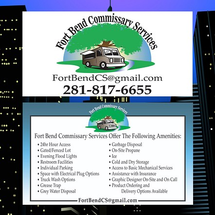 Commissary Services Sign Designs