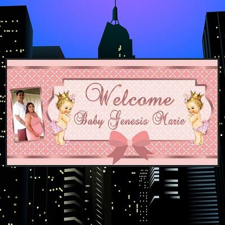 Baby Shower Banner Design