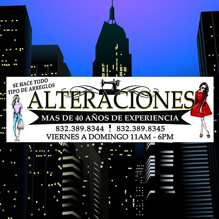 Alterations Front Store Sign Banner Design