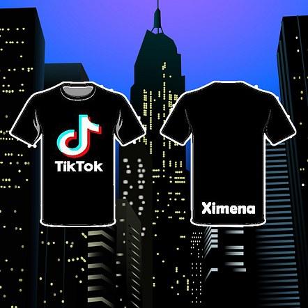 TikTok Logo w/ Name Front & Back Mockup Design