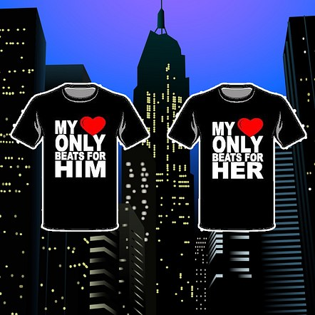 Couples T-shirt Mockup Design