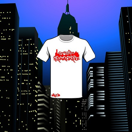 Hip Hop Houston City w/ Name T-shirt Mockup Design