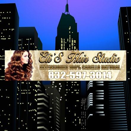 Hair Salon Front Store Sign Banner Design