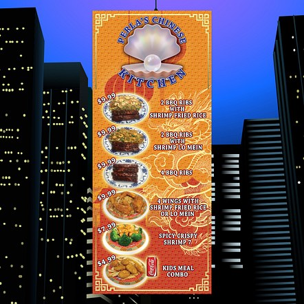 Chinese Food Restaurant Advertising Banner Stand Design