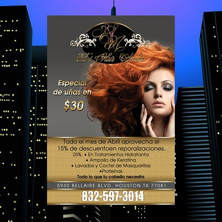 Hair Salon Nail Promotion Flyer Design