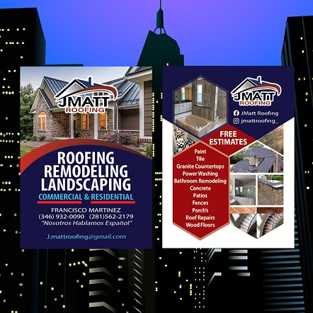 Roofing Company Promotion Flyer Design
