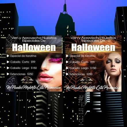 Hair Salon Halloween Promotion Digital Flyer Design