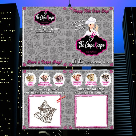 Food Restaurant Coloring Book Graphic Design