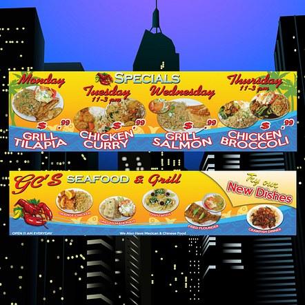 Food Restaurant Advertising Banner Design
