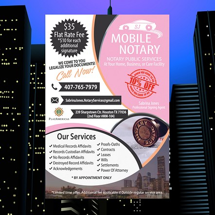 Notary Services Promotion Flyer Design