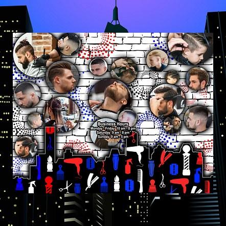 Barbershop Window Graphic Design