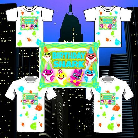 Family Birthday Party T-shirt Mockup Design.