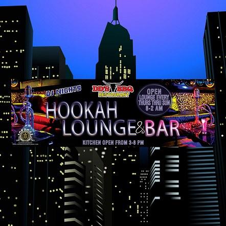 Lounge & Bar Front Store Sign Banner Design