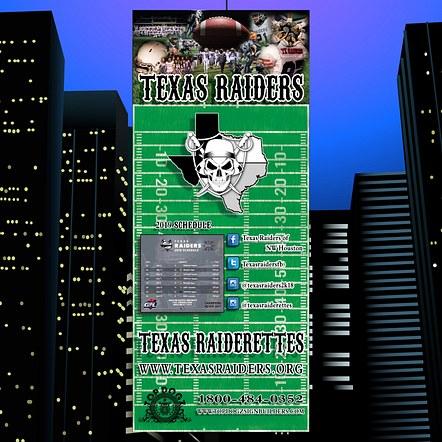 Football Team Advertising Banner Stand Design