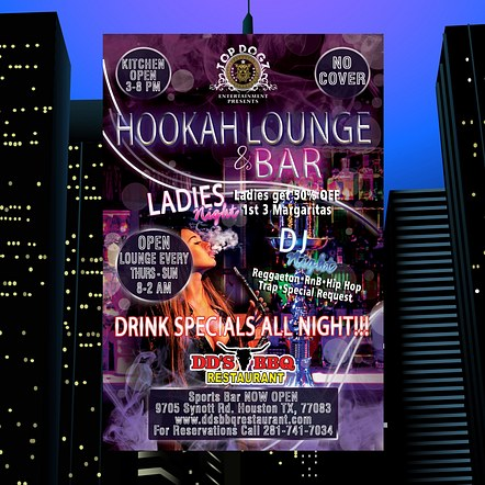 Hookah Lounge Drink Special Custom Flyer Design