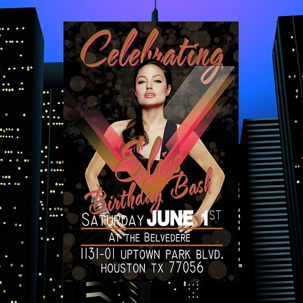 Birthday Party Invitation Custom Digital Flyer Design