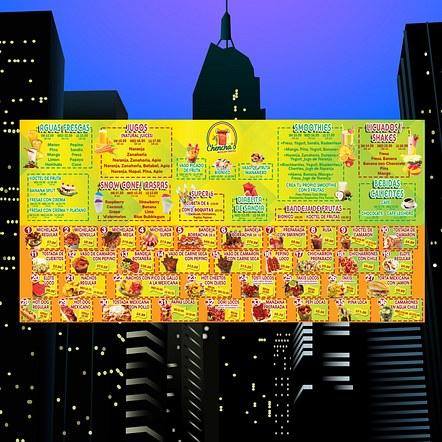 Food Restaurant Menu Large Size Poster