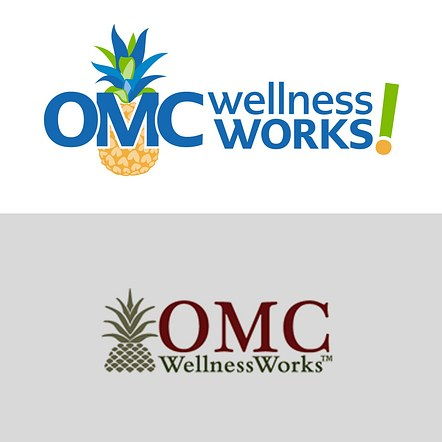 OMC Wellness Work logo and branding redesign