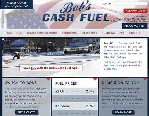 Bob's Cash Fuel website design and development