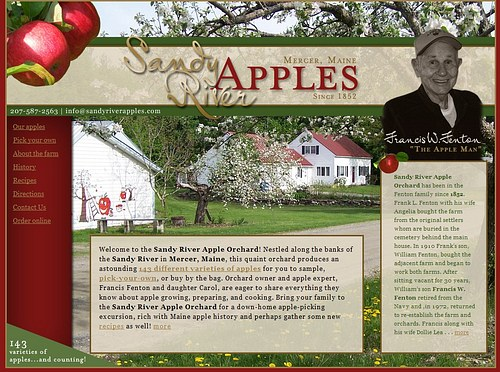 Sandy River Apples website