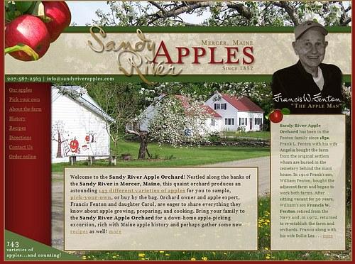 Sandy River Apples website
