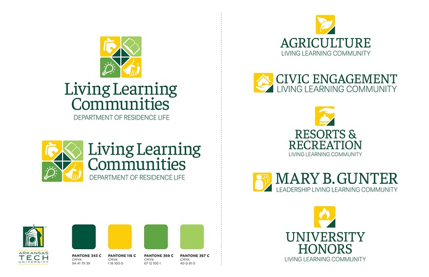 Living Learning Communities Collateral Branding System