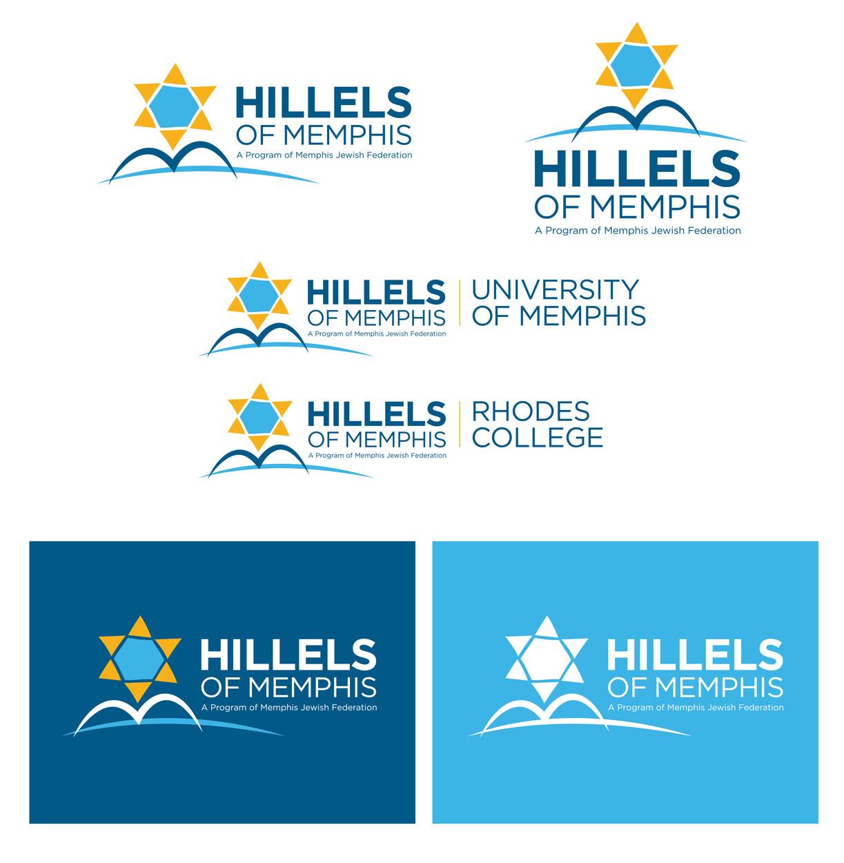 Hillels of Memphis. Logo family.