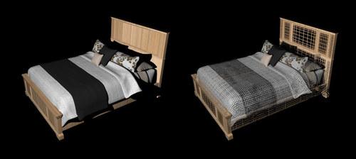 Modern bed model