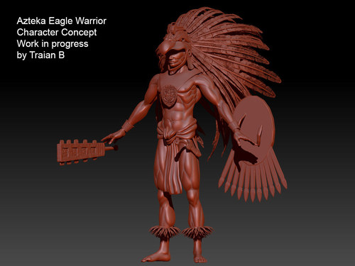 Character concept design - Azteka Eagle Warrior