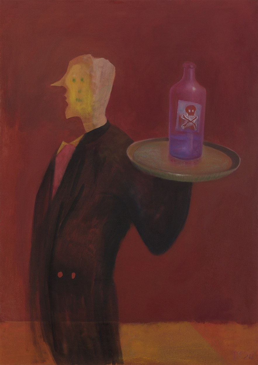 'WAITER' (2020), OIL ON CANVAS, 92 X 65 CM