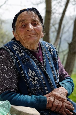 Old lady in Armenia