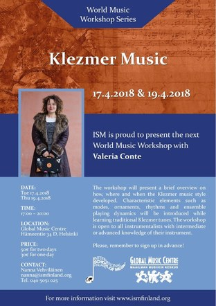 Fliers for International School of Music, Finland