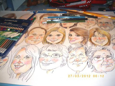 Caricatures drawing