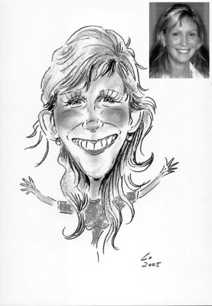 Personalised Single Caricature A3 Black and white