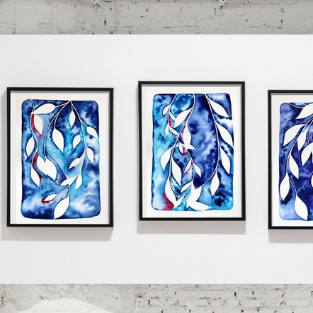 Watercolour Vine Series Frame Display
