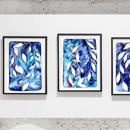 Watercolour Vine Series Frame Display