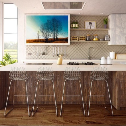 """Farm Trees"" in a Kitchen"