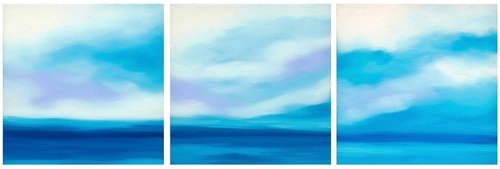 Blue Horizon Triptych