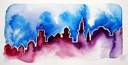Steepled Cityscape