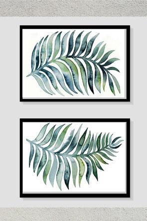 Green Leaf Pair Frame