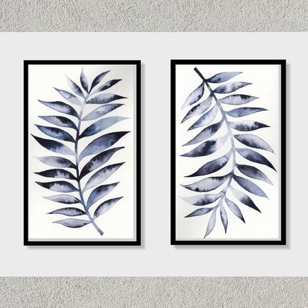 Dark Leaf 1 and 2 (Portrait Orientation) Set of 2