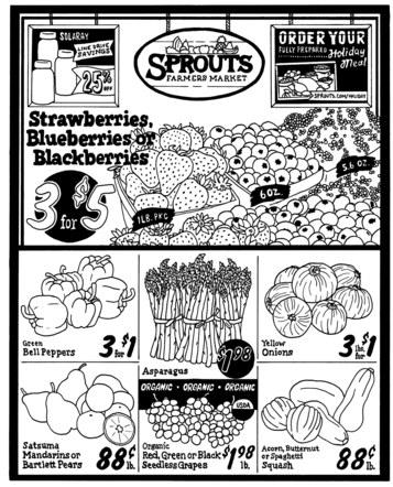Sprouts Screen Print Design