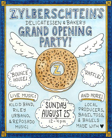 Zylberschiten's Grand Opening Poster